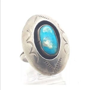 Jewelry - Navajo Oval Shadow Box Turquoise & 925 Ring